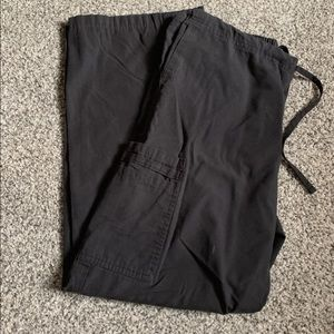 Small black scrub pants